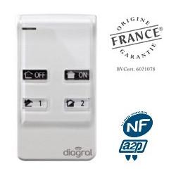 Télécommande programmable 4 touches Diagral DIAG41ACK