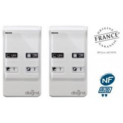 Lot de 2 télécommandes 4 fonctions Diagral DIAG41ACK