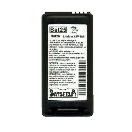 pile Batsecur Bat25 - Bat26, équivalente BatLi25 -BatLi26 Daitem Atral