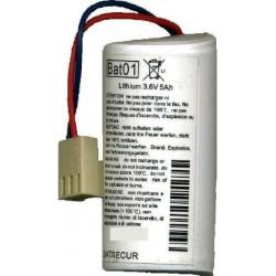 pile alarme BatSecur Bat01 compatible Daitem BatLi01