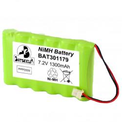 Batterie BAT301179 BatSecur NiMH 7,2V 1300mAh pour alarme Visonic Powermaster30 ref 103-301179
