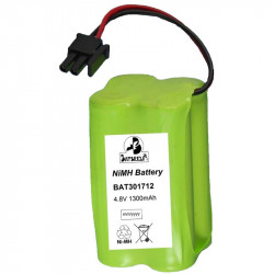Batterie BAT301712 BatSecur NiMH 4,8V 1300mAh