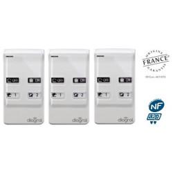 Lot de 3 télécommandes 4 fonctions Diagral DIAG41ACK