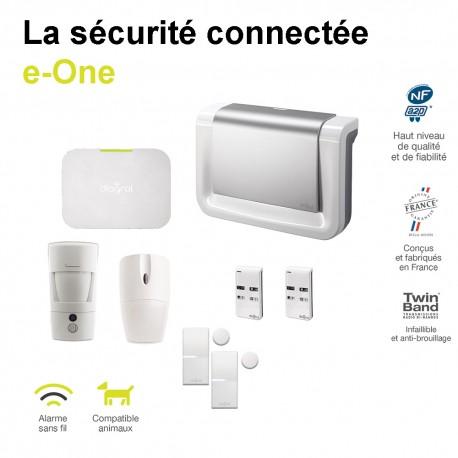 Alarme Diagral connectée e-One avec détecteur de mouvement à images