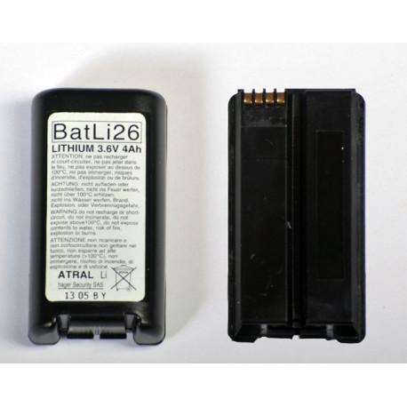 pile alarme d'origine Daitem BatLi26 (Atral - Hager)