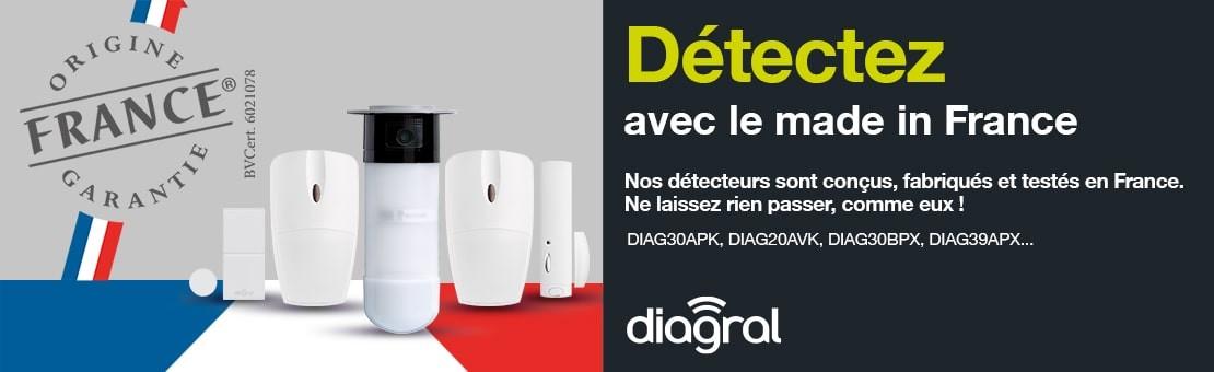 Détecteurs Diagral fabriquée en France